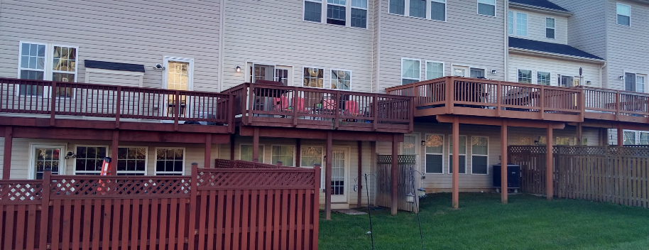 We offer deck staining and painting, as well as fences